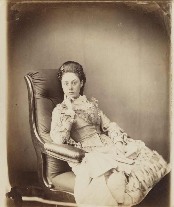 Ina Liddell, by Lewis Carroll, 25 June 1870 - NPG P991(12) - © National Portrait Gallery, London