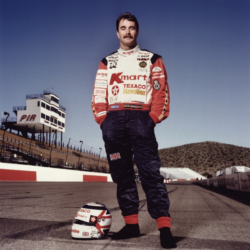 Nigel Mansell, by Terry O'Neill, 1993 - NPG x87441 - © Iconic IMages/Terry O'Neill