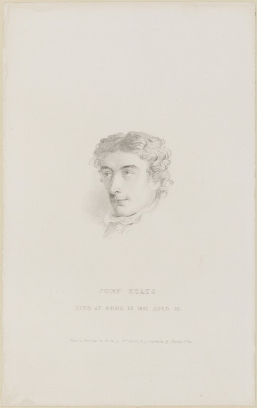 John Keats, by Charles Wentworth Wass, after  William Hilton, published 1841 - NPG D13956 - © National Portrait Gallery, London