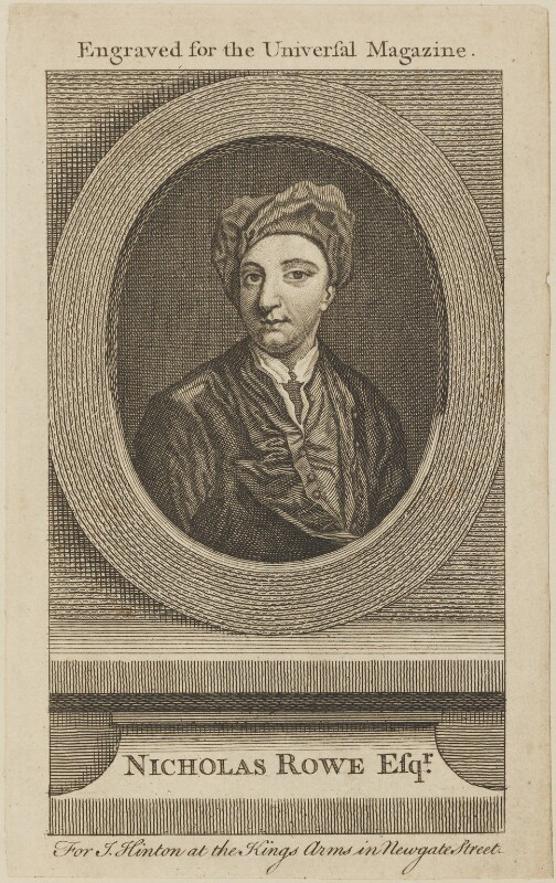 Nicholas Rowe, published by John Hinton, published circa 1745-1753 - NPG D13957 - © National Portrait Gallery, London