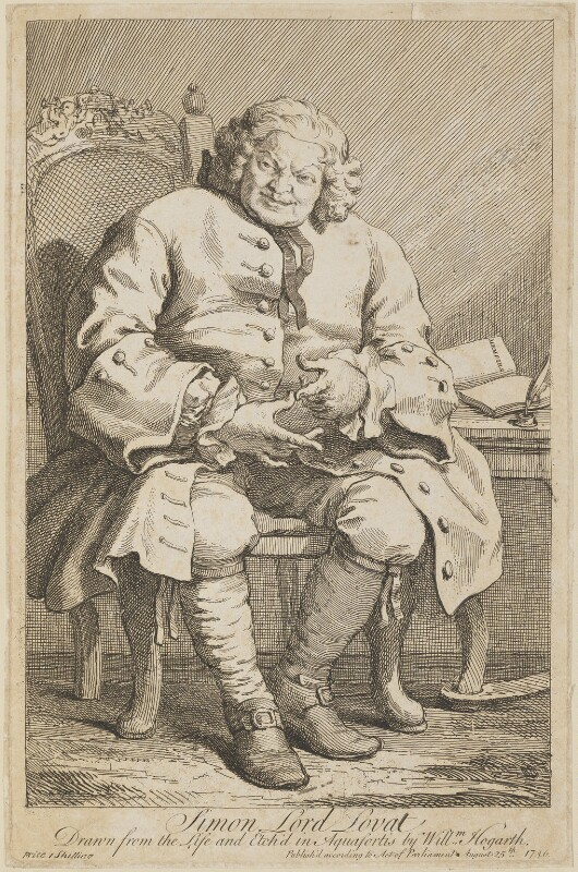 Simon Fraser, 11th Baron Lovat, by William Hogarth, published 25 August 1746 (1746) - NPG D13960 - © National Portrait Gallery, London