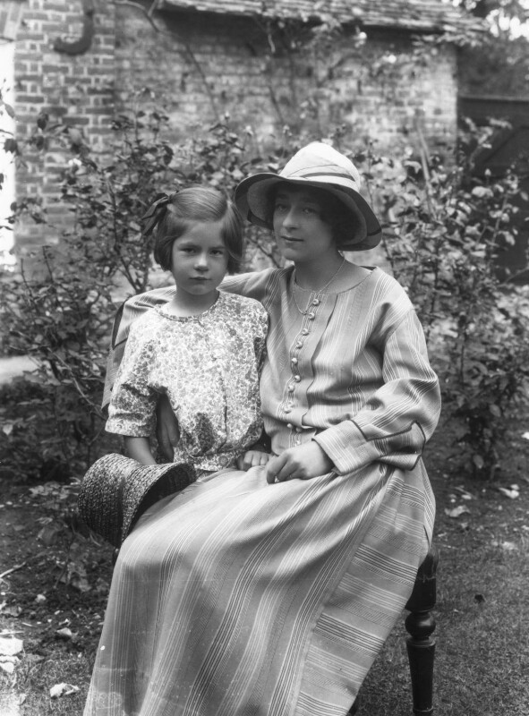 Athene Seyler with her daughter Jane Ann Jones (née Sterndale Bennett), by Bassano Ltd, 30 August 1922 - NPG x18809 - © National Portrait Gallery, London