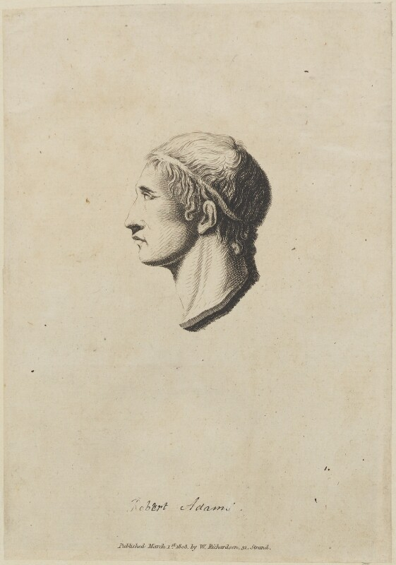 Robert Adam, published by William Richardson, published 1 March 1808 - NPG D14007 - © National Portrait Gallery, London