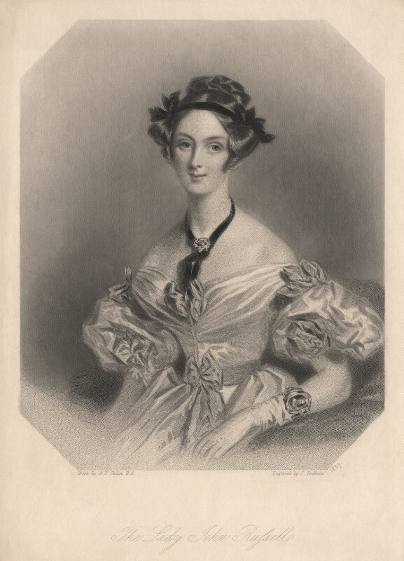 Adelaide (née Lister), Lady Russell, by Joseph John Jenkins, after  Alfred Edward Chalon, published 1839 - NPG D17932 - © National Portrait Gallery, London