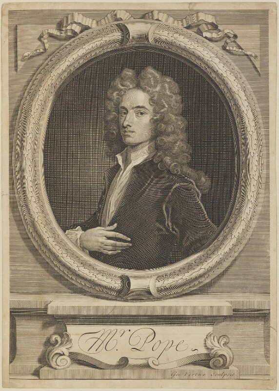 Alexander Pope, by George Vertue, after  Charles Jervas, 1715 (circa 1714) - NPG D14071 - © National Portrait Gallery, London