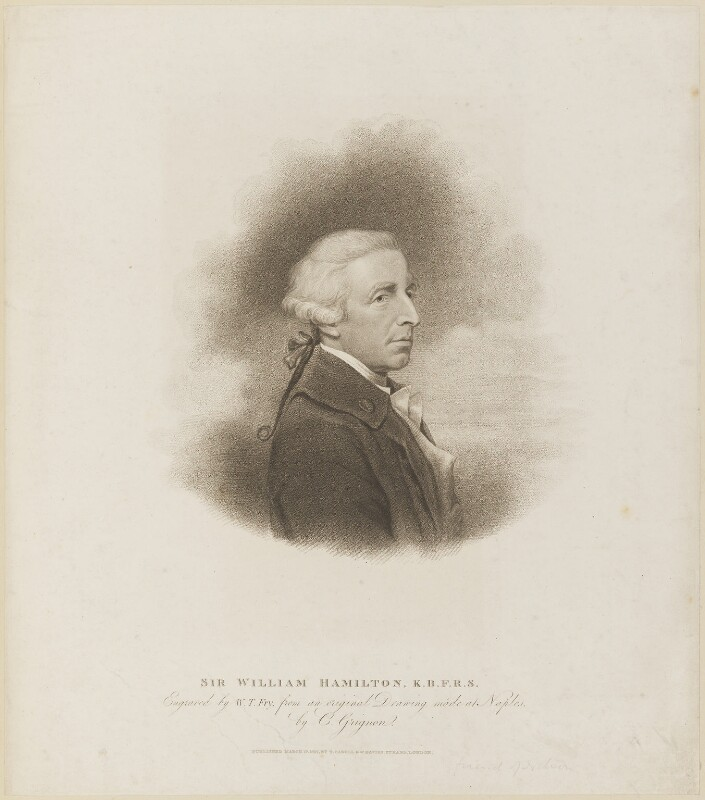 Sir William Hamilton, by William Thomas Fry, published by  T. Cadell & W. Davies, after  Charles Grignion, after  Hugh Douglas Hamilton, published 27 March 1817 - NPG D14099 - © National Portrait Gallery, London
