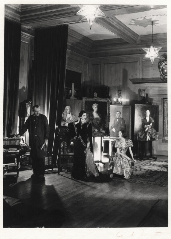 Sir Oswald Birley; Rhoda (née Lecky Pike), Lady Birley; Maxime de la Falaise, by Cecil Beaton, 1930s - NPG x13190 - © Cecil Beaton Studio Archive, Sotheby's London