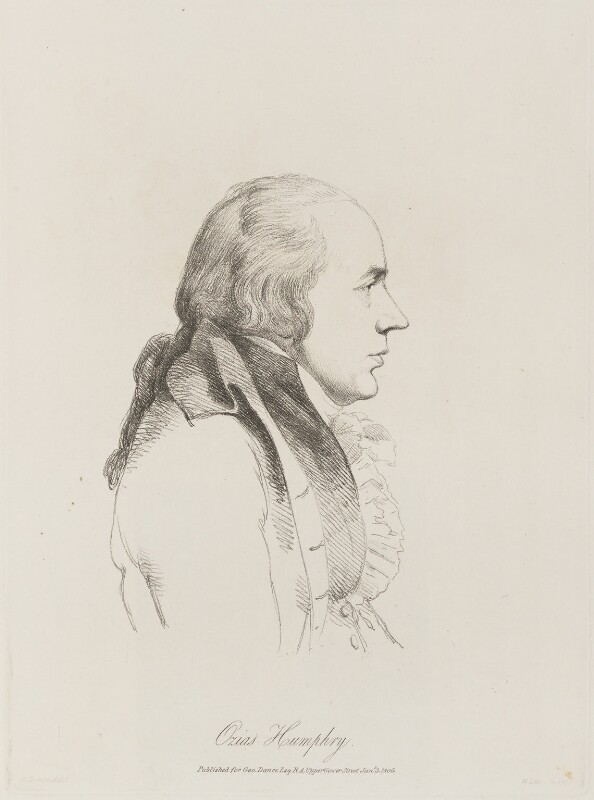 Ozias Humphry, by William Daniell, after  George Dance, published 3 January 1806 (1793) - NPG D14140 - © National Portrait Gallery, London