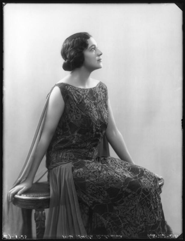 Stella Arbenina, by Bassano Ltd, 27 August 1923 - NPG x122663 - © National Portrait Gallery, London