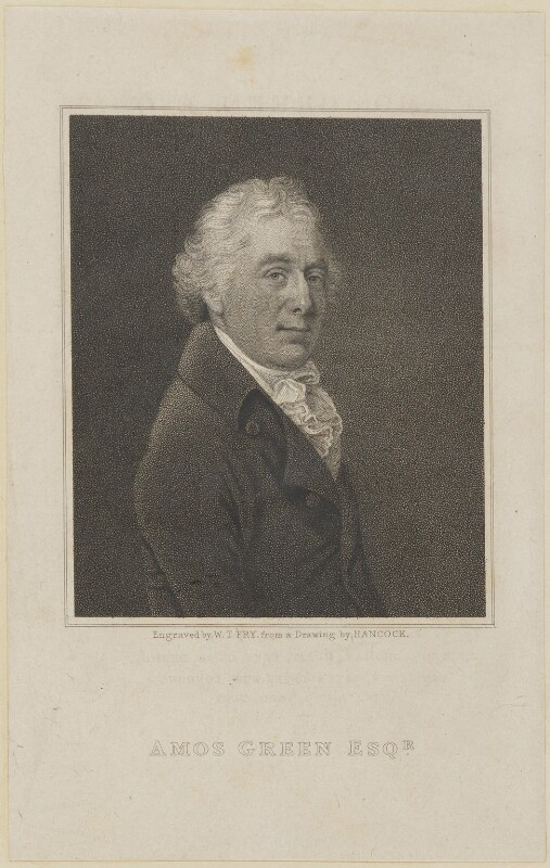 Amos Green, by William Thomas Fry, probably after  Robert Hancock, circa 1800-1825 - NPG D14176 - © National Portrait Gallery, London