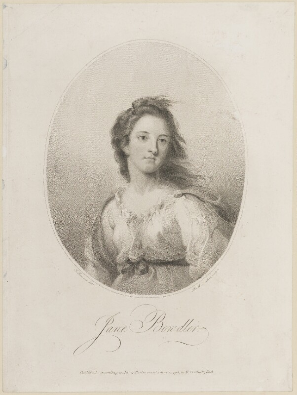 Jane Bowdler, by R.M. Meadows, published by  Richard Cruttwell, after  Sir Thomas Lawrence, published 1 January 1798 - NPG D14180 - © National Portrait Gallery, London