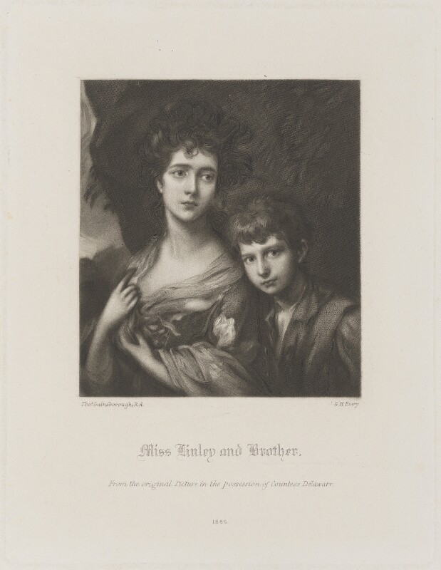 Elizabeth and Thomas Linley, by George H. Every, after  Thomas Gainsborough, published 1886 (1768) - NPG D14195 - © National Portrait Gallery, London