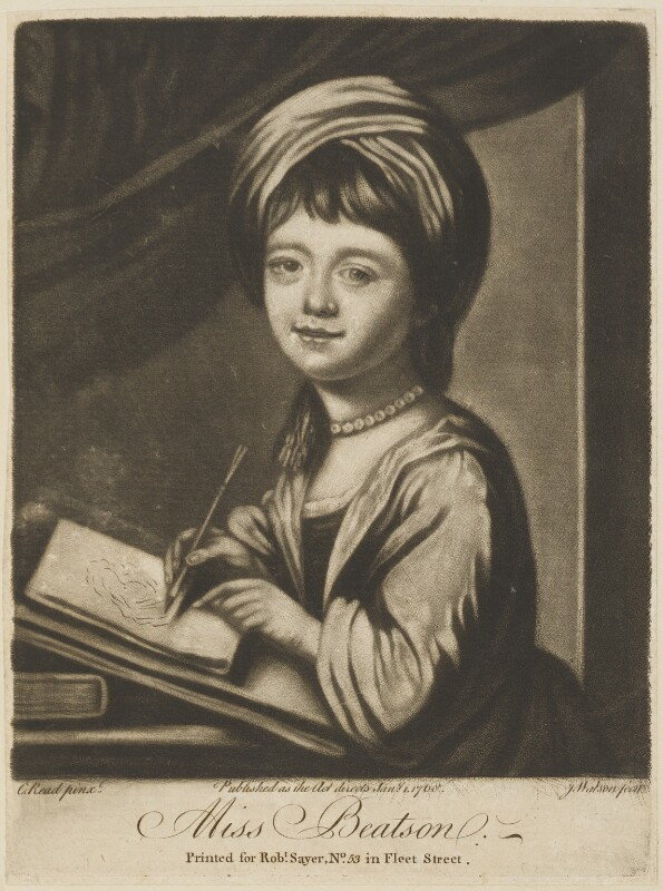 Lady Helena Oakeley (née Beatson), by James Watson, published by  Robert Sayer, after  Katharine Read, published 1 January 1768 - NPG D14199 - © National Portrait Gallery, London