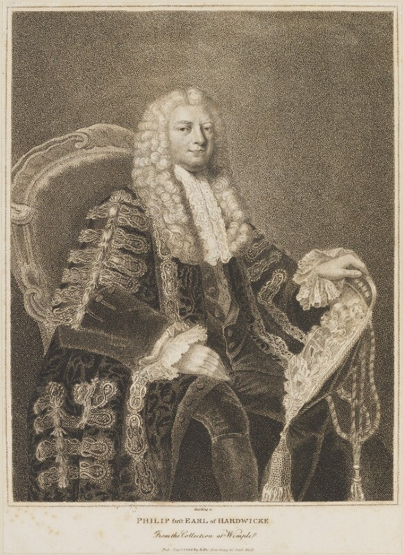 Philip Yorke, 1st Earl of Hardwicke, by and published by Edward Harding, after  William Hoare, published 1 September 1800 (1763) - NPG D14207 - © National Portrait Gallery, London