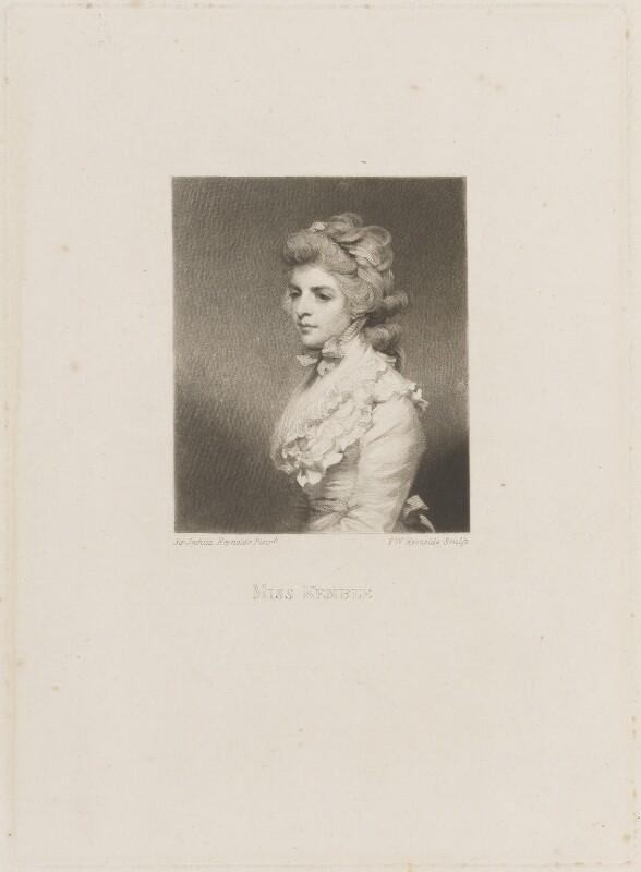 Fanny Kemble, by Samuel William Reynolds, after  Sir Joshua Reynolds, (1783) - NPG D14213 - © National Portrait Gallery, London