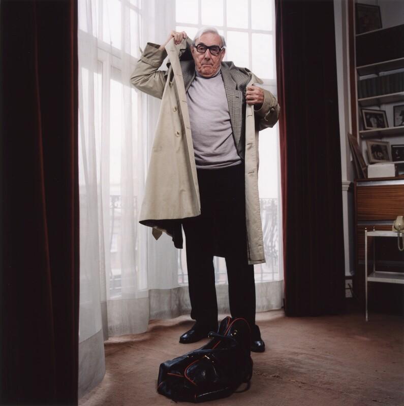 Eric Sykes, by Trevor Ray Hart, 15 March 2001 - NPG x126061 - © Trevor Ray Hart