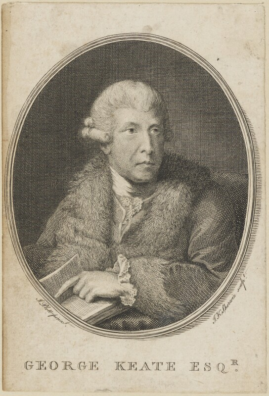 George Keate, by John Keyse Sherwin, after  John Plott, published 1781 - NPG D14233 - © National Portrait Gallery, London