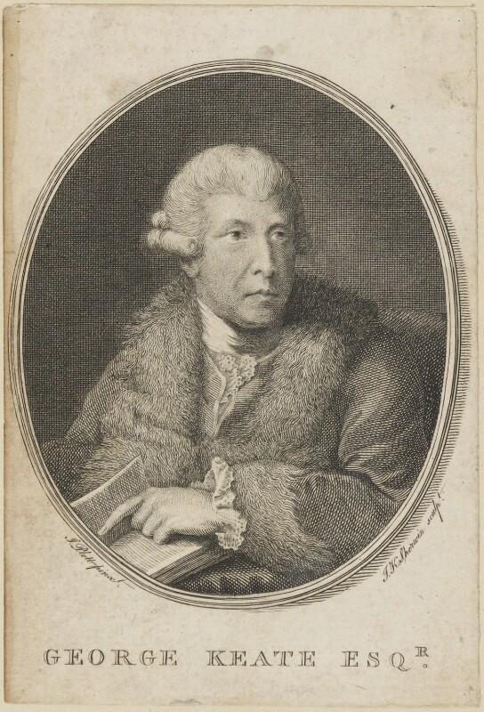George Keate, by John Keyse Sherwin, after  John Plott, published 1781 - NPG D14233 - © National Portrait Gallery, London