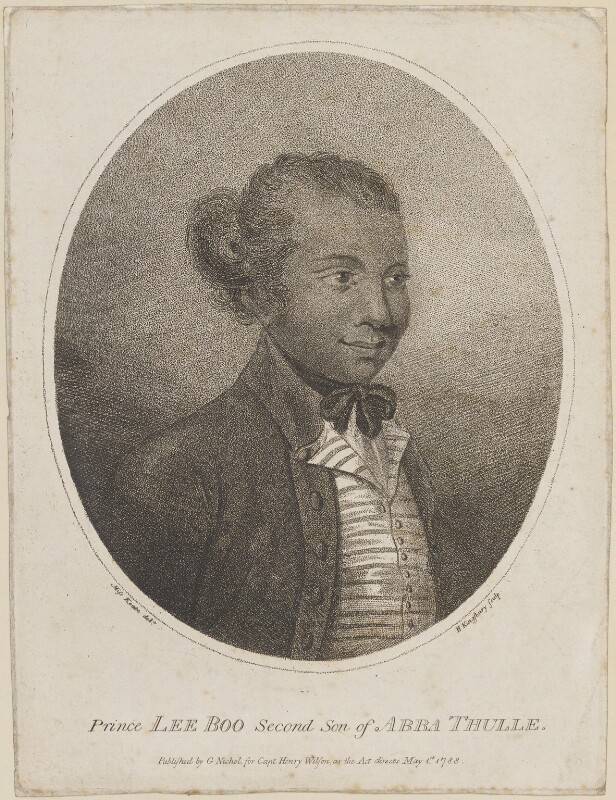Lee Boo, by Henry Kingsbury, published by  George Nicol, published for  Henry Wilson, after  Georgiana Jane Henderson (née Keate), published 1 May 1788 - NPG D14235 - © National Portrait Gallery, London