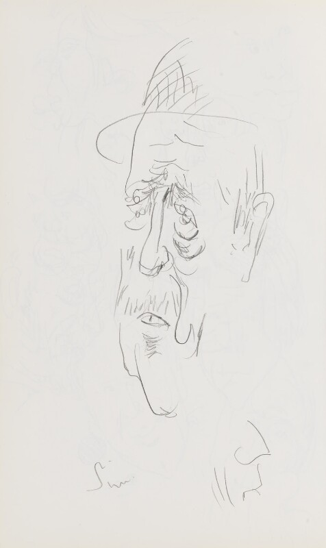 Alastair Sim, by Cecil Beaton, late 1960s-early 1970s - NPG D17948(16) - © National Portrait Gallery, London
