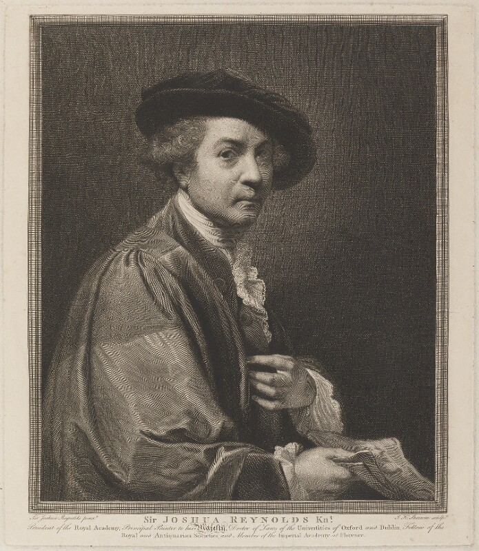 Sir Joshua Reynolds, by and published by John Keyse Sherwin, after  Sir Joshua Reynolds, 1784 (1774?) - NPG D14270 - © National Portrait Gallery, London