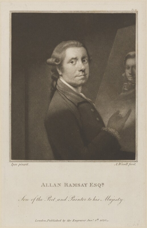 Allan Ramsay, by and published by Abraham Wivell, after  Allan Ramsay, published 8 January 1820 - NPG D14273 - © National Portrait Gallery, London