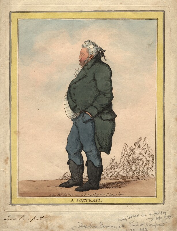 George Fermor, 3rd Earl of Pomfret, by Thomas Rowlandson, published 1812 - NPG D17988 - © National Portrait Gallery, London