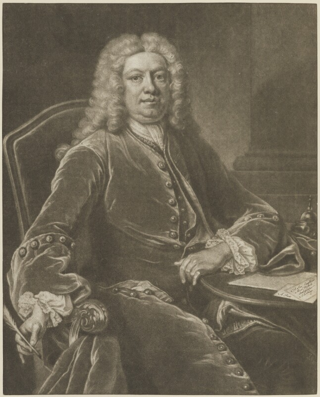 Horatio Walpole, 1st Baron Walpole of Wolterton, by John Simon, after  Jean Baptiste van Loo, 1741 (1739) - NPG D14348 - © National Portrait Gallery, London