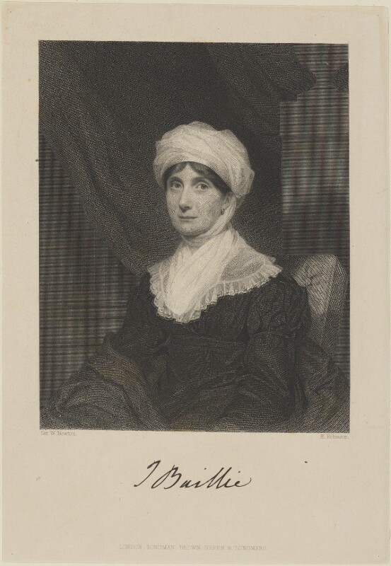 Joanna Baillie, by John Henry Robinson, published by  Longman, Brown, Green & Longmans, after  Sir William John Newton, published 1851 - NPG D14361 - © National Portrait Gallery, London