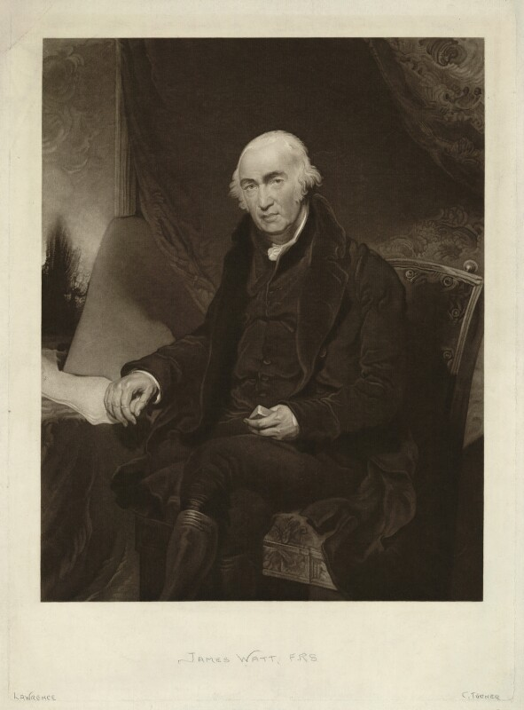 James Watt, by Charles Turner, after  Sir Thomas Lawrence, published 1815 - NPG D18005 - © National Portrait Gallery, London