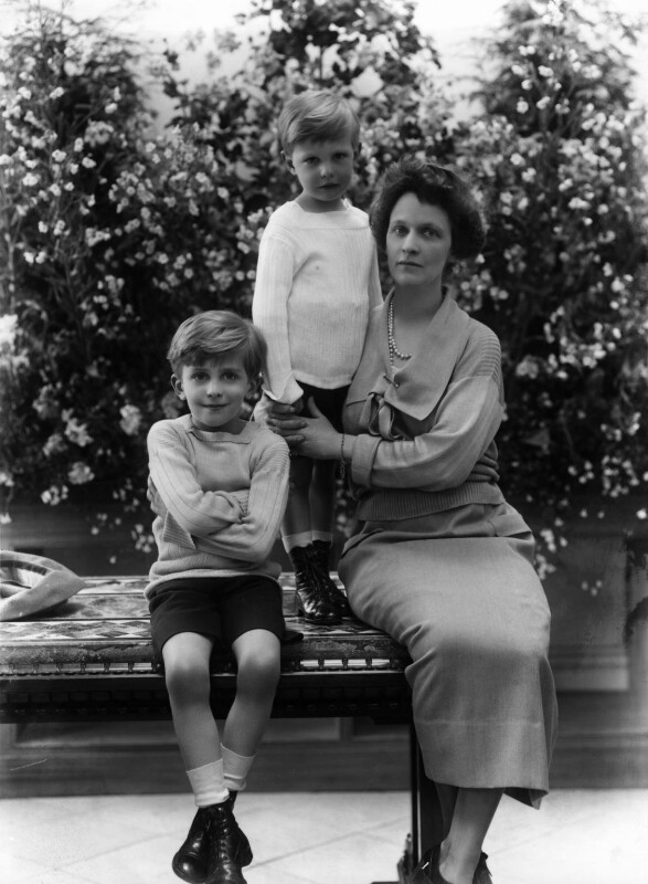 Hon. Michael Langhorne Astor; Sir John Jacob Astor; Nancy Astor, Viscountess Astor, by Bassano Ltd, 18 June 1923 - NPG x18822 - © National Portrait Gallery, London