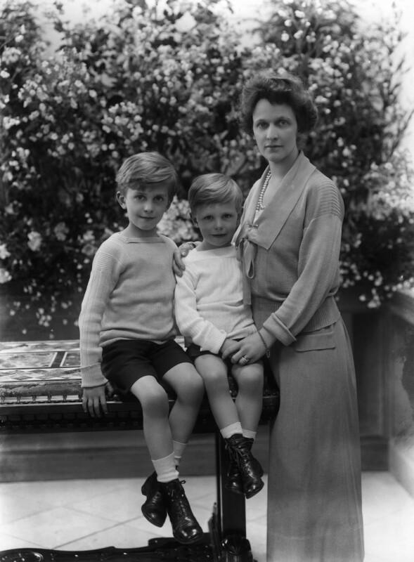 Hon. Michael Langhorne Astor; Sir John Jacob Astor; Nancy Astor, Viscountess Astor, by Bassano Ltd, 18 June 1923 - NPG x18823 - © National Portrait Gallery, London