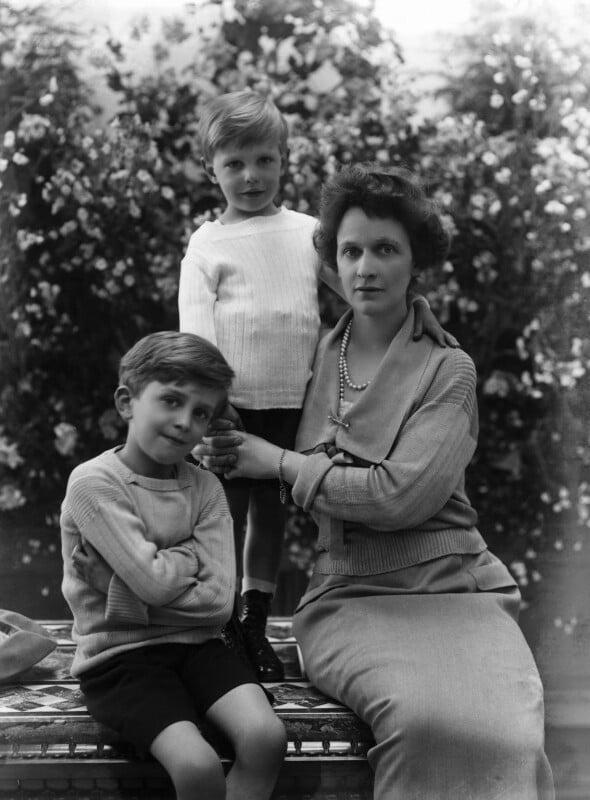 Hon. Michael Langhorne Astor; Sir John Jacob Astor; Nancy Astor, Viscountess Astor, by Bassano Ltd, 18 June 1923 - NPG x18825 - © National Portrait Gallery, London