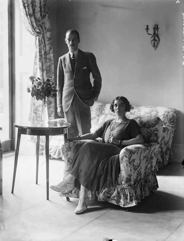 Prince Andrew Alexandrovitch of Russia; Elisaveta Fabrizievna (née Ruffo), Princess Alexandrovitch of Russia, by Bassano Ltd, 10 August 1923 - NPG x37283 - © National Portrait Gallery, London