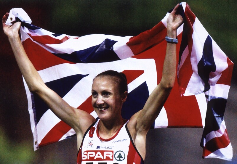 Paula Radcliffe, by Wolfgang Rattay, for  Reuters, 6 August 2002 - NPG x126070 - © Reuters