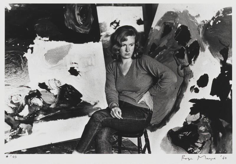 Gillian Ayres, by Roger Mayne, 1960 - NPG P995 - © Roger Mayne / National Portrait Gallery, London