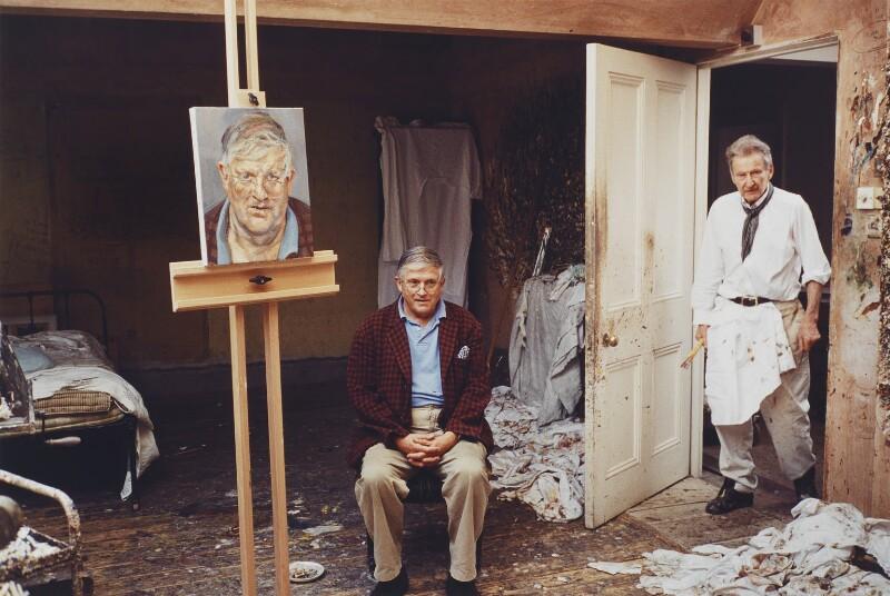 David Hockney; Lucian Freud, by David Dawson, 2003 - NPG P1001 - © David Dawson