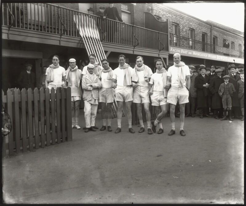 Cambridge University Rowing Crew, by Bassano Ltd, 1920 - NPG x122830 - © National Portrait Gallery, London
