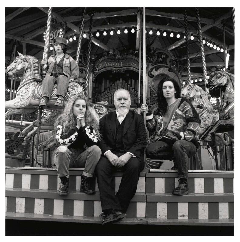 Peter Blake; Juliette Liberty Blake; Daisy Blake; Rosie Blake, by Emily Andersen, 1994 - NPG x45671 - © Emily Andersen