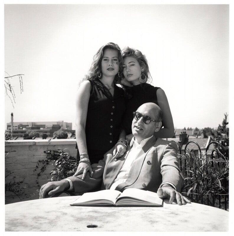 Michael Nyman; Mollie Nyman; Martha Nyman, by Emily Andersen, 1990 - NPG x45676 - © Emily Andersen