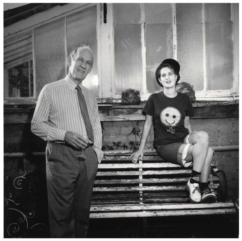 Anthony Sampson (Terrell Seward); Katie Sampson, by Emily Andersen, 1991 - NPG x45677 - © Emily Andersen