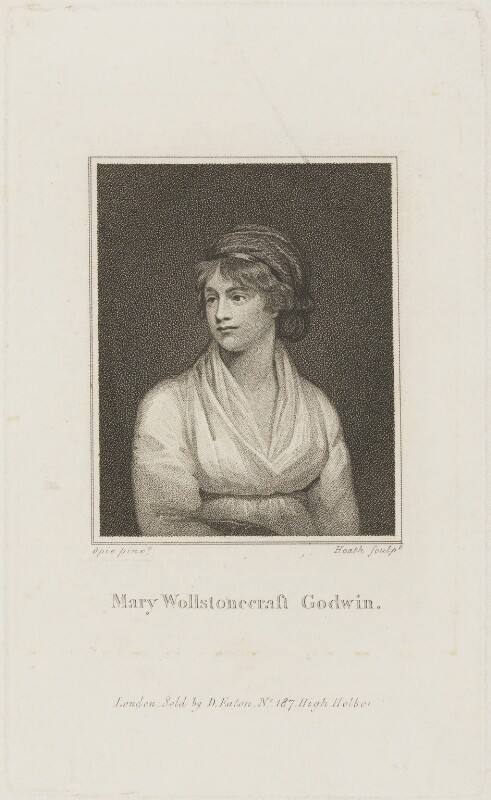 Mary Wollstonecraft, by James Heath, published by  Daniel Isaac Eaton, after  John Opie, (circa 1797) - NPG D14469 - © National Portrait Gallery, London