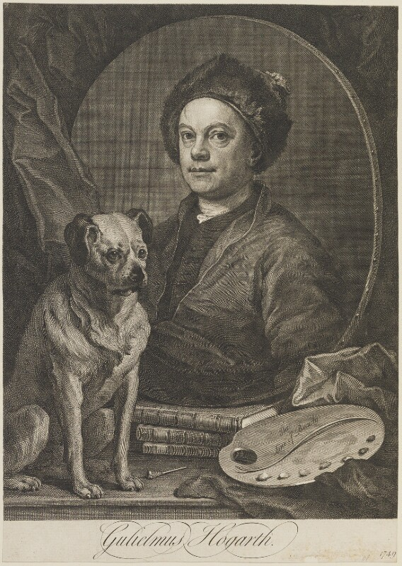 William Hogarth, by William Hogarth, 1749 (1745) - NPG D14543 - © National Portrait Gallery, London