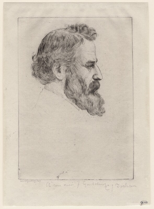 Alphonse Legros, by C.J. Durham, 1860s-1870s - NPG D18055 - © National Portrait Gallery, London