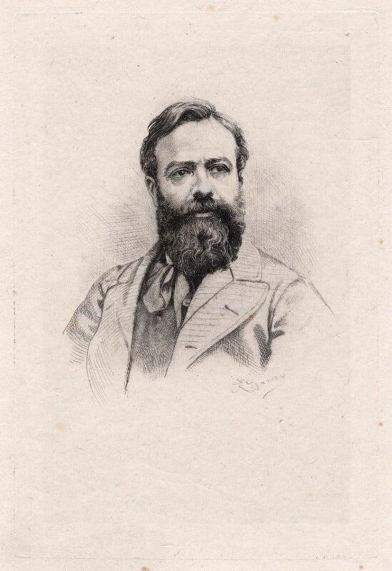 Alphonse Legros, by Frédéric Régamey, published 1877 - NPG D18056 - © National Portrait Gallery, London