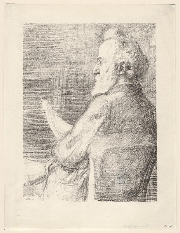 Alphonse Legros, by William Rothenstein, 1899 - NPG D18058 - © National Portrait Gallery, London