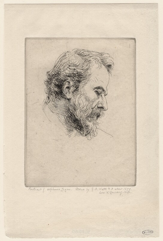 Alphonse Legros, by George Frederic Watts, circa 1879 - NPG D18060 - © National Portrait Gallery, London