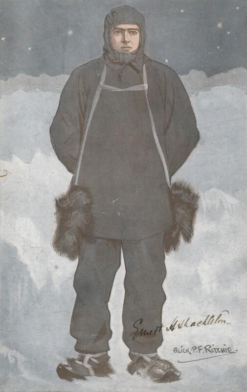 Sir Ernest Henry Shackleton, by Alexander ('Alick') Penrose Forbes Ritchie, 1907 or after - NPG D18064 - © National Portrait Gallery, London