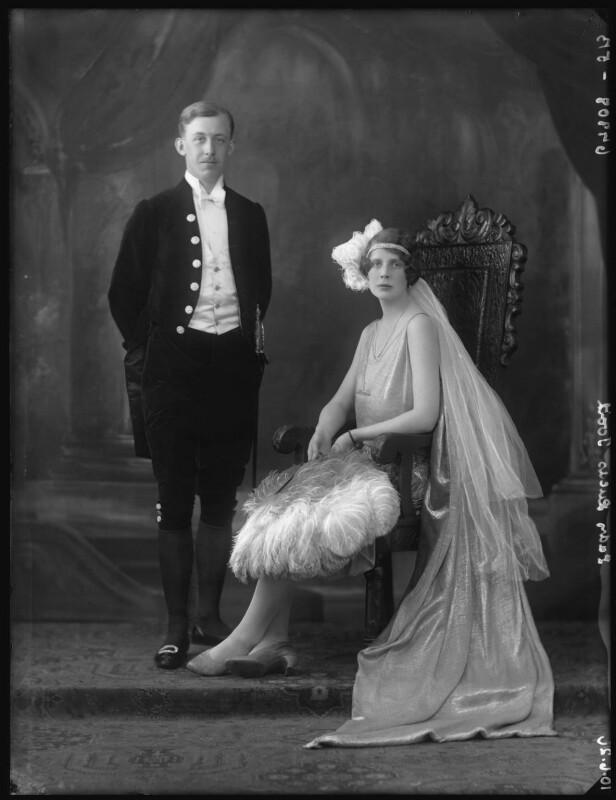 Sir Hugh Vere Huntly Duff Munro-Lucas-Tooth, 1st Bt; Laetitia Florence (née Findlay), Lady Munro-Lucas-Tooth, by Bassano Ltd, 10 June 1926 - NPG x36520 - © National Portrait Gallery, London