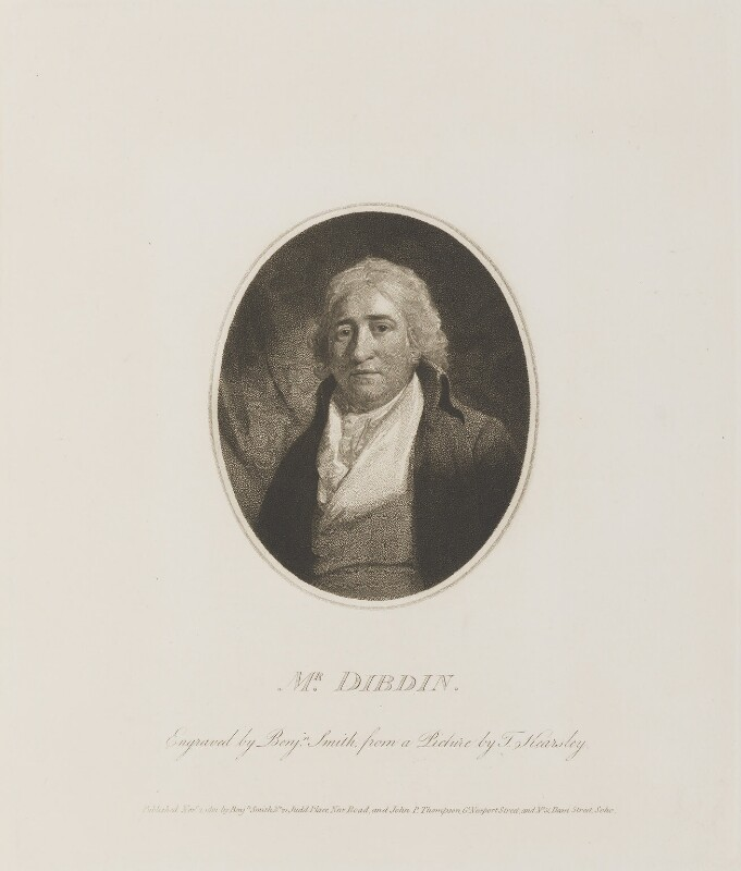 Charles Dibdin, by and published by Benjamin Smith, published by  John Peter Thompson, after  Thomas Kearsley, published 2 November 1801 - NPG D14612 - © National Portrait Gallery, London